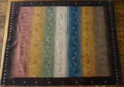 Hand Knotted Handmade Gabbeh Genuine Persian Rug Qashqaai Modern