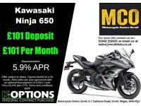 KAWASAKI NINJA 650 2018 MODEL PEARL STORM GREY/EBONY