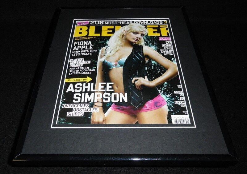 Ashlee Simpson 11x14 Framed ORIGINAL 2005 Blender Magazine Cover