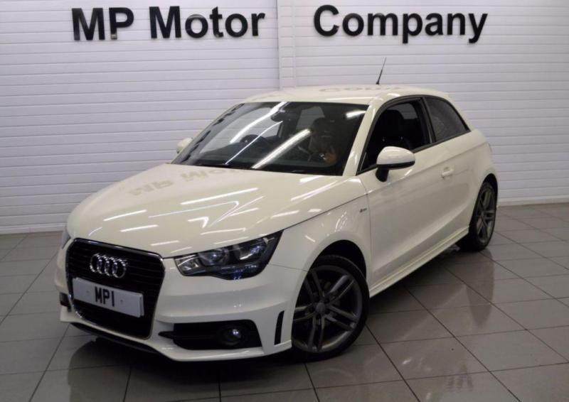 2011 11 audi a1 1 4 tfsi s line 3d 122 bhp 6sp sports hatch white 53 000m fash in. Black Bedroom Furniture Sets. Home Design Ideas