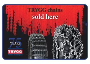 Trygg Studded Tractor Ice Chains - Factory Direct Pricing