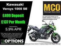 KAWASAKI VERSYS 1000 SE 2018 MODEL CANDY LIME GREEN/METALLIC SPARK BLACK