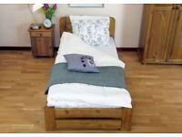 AP18 3ft single bed frames solid pine wood oak colour