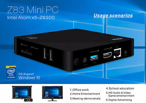 Z83 Windows 10 Atom x5-Z8300 2G/32G 4K 1000M Wifi BT TV Box