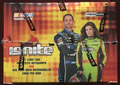 (2) 2013 PRESS PASS IGNITE RACING SEALED HOBBY BOX LOT auto relic danica nascar