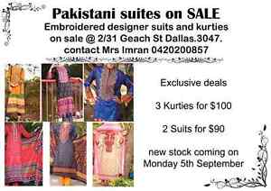 Embroidered Lawn kurties and suits on SALE Dallas Hume Area Preview