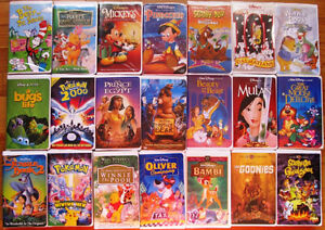 Kids VHS movie collection