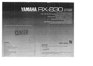 Yamaha rx 830 car interior design for Yamaha rx v377 manual