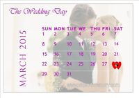 FREE Wedding Day Calendar/20Pages-Album: $100/hr-Photography
