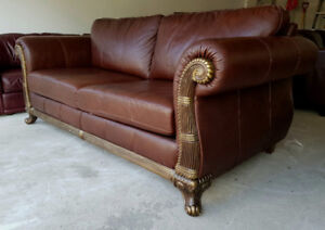 Huge Size Extremely Luxury Leather Couch Set Almost New
