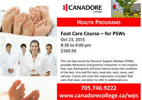 Canadore College, Parry Sound - Foot Care Course for PSW