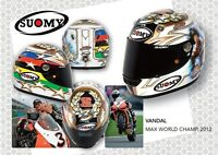 Casque de Moto Sports Champion de Monde Max Biaggi