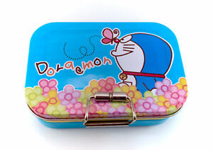 RARE Doraemon Aluminum Tin Case Box Storage Japanese 2008 Anime