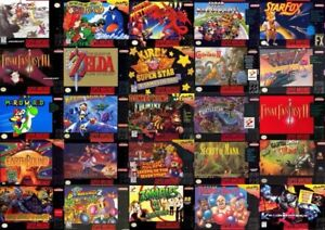 looking for SNES games!