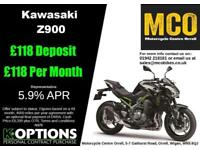 KAWASAKI Z900 BRAND NW PEARL MYSTIC GREY/METALLIC FLAT BLACK