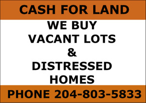 Wanted: Vacant Lots & Distressed Homes