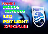 BEST IN TOWN IN/OUTDOOR LED POT LIGHT PROFESSIONAL INSTALLATION