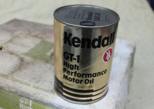 Kendall GT-1 High Performance SAE 30 Oil 23 Vintage Cans sealed