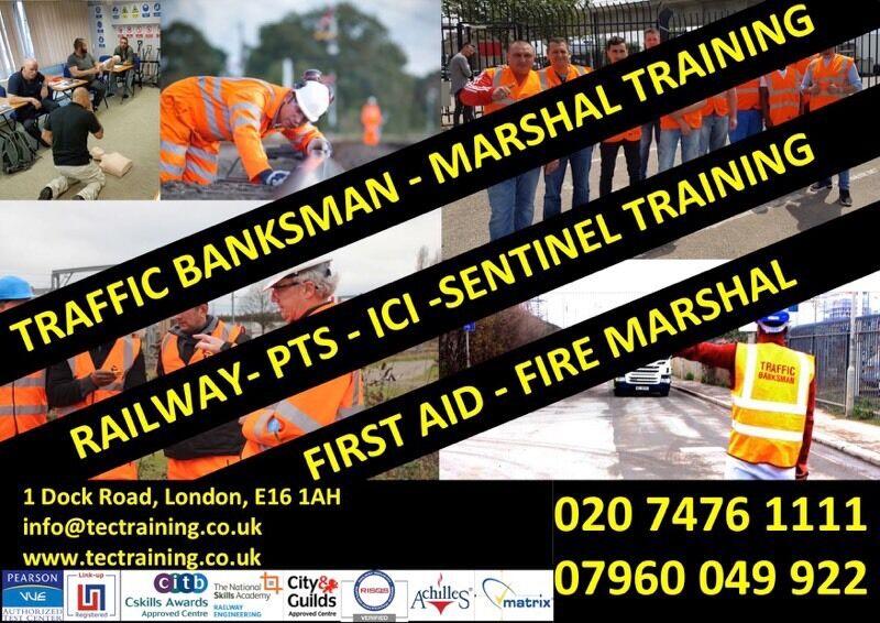 TRAFFIC MARSHALL-BANKSMAN TRAINING £65.00 & EMERGENCY FIRST AID £45.00!!
