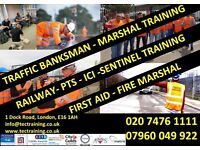 TRAFFIC MARSHALL-BANKSMAN TRAINING £65.00 & EMERGENCY FIRST AID £45.00!!