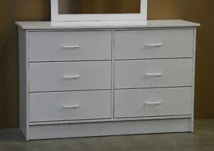 White Six Drawer Dresser **Brand New**