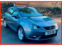 Grey SEAT Ibiza TOCA 1.4 Petrol Manual 2014 (14) NEW mot FDSH Fully Loaded!