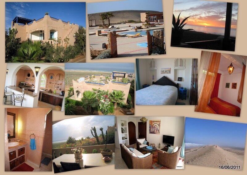 villa  de vacances en location,bord de mer,sud agadir (maroc)