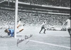 GORDON BANKS SIGNED PELE SAVE OF THE CENTURY 16x12 PHOTO FROM HIS AGENT £12