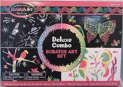 Melissa and Doug * Deluxe Combo Scratch Art Set * NEW arts & craft activity toy