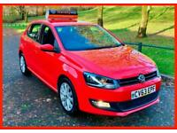 RED VW Polo SEL+ 1.6 tdi DIESEL Manual 2013 (63) FDSH £30 TAX