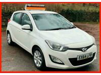 White Hyundai i20 1.2 Petrol Manual 2014(64) NEW mot Cheap Motoring £30 Tax FSH