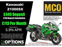 KAWASAKI Z1000SX 2018 MODEL METALLIC SPARK BLACK