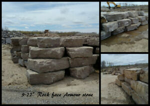Weathered Edge and rock face erosion control armour stone