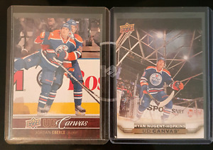 Eberle and Nugent Hopkins Upper Deck UD Canvas