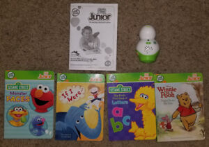 Leap Frog books and reader
