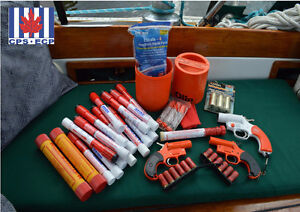DISPOSE OF OLD MARINE FLARES