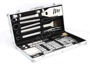 24 Pcs Stainless Steel BBQ Portable Grill Tools Set Cooking Set Storage Case211060