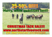 TACK AND HORSE EQUIPMENT! ONLINE SALE!