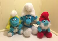 Lot Of Collectable Vintage Smurf Stuffed Toys 1981 Smurfs