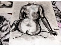 Life Drawing Class. Learn to draw from a life model.