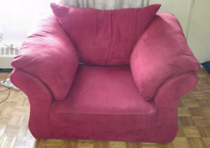 Excellent condition L shape sofa and chair.