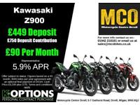 KAWASAKI Z900 PEARL MYSTIC GREY/METALLIC SPARK BLACK 2018 MODEL