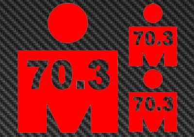 Ironman 70.3 Vinyl Sticker Decal triathlon tri 140.6 m logo iron man kona hawaii