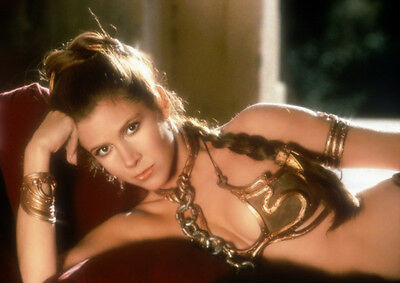 Movie PHOTO 8.25x11.75 Princess Leia Carrie Fisher Jabba's Slave Bikini 01