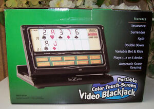 Portable Color Touch Screen Blackjack Game