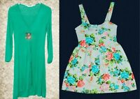 LOFT floral sleveless Dress + Beautiful Green Dress Brand New
