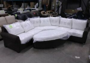 Palmetto 4 Pc Outdoor Sectional With Ottoman