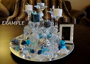 Centerpieces from Crystal glasses