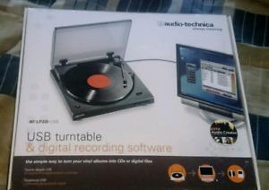 Table tournante usb et enregistreur numérique Audio-Technica