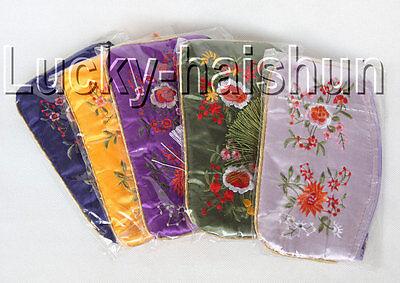 Wholesale 5pieces Silk Pouch Jewelry Zipper Bags J9285